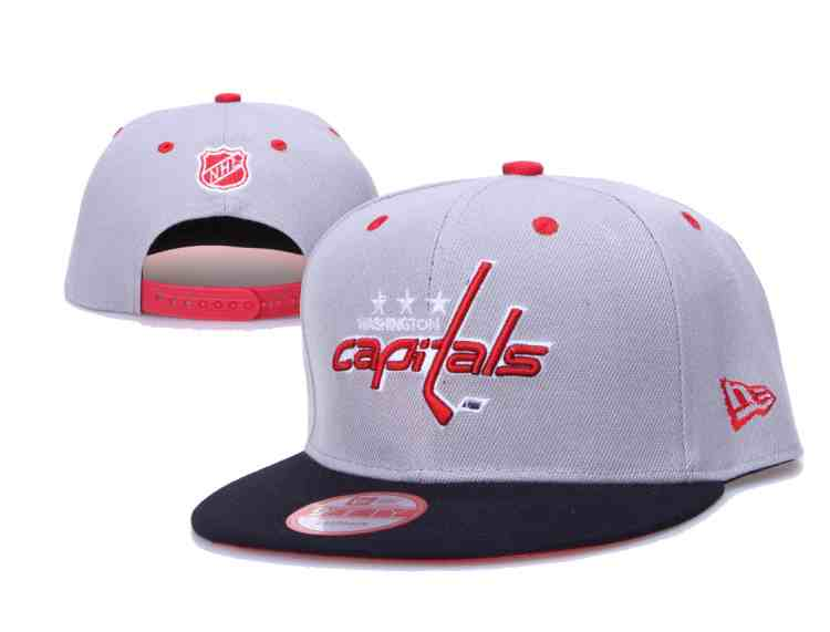 Capitals-Team-Logo-Gray-Black-Adjustable-Hat-LH