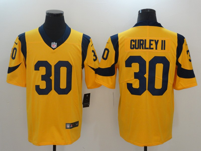 Nike Rams 30 Todd Gurley II Gold Youth Vapor Untouchable Player Limited Jersey
