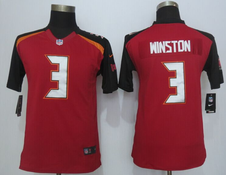 Nike Buccaneers 3 Winston Red Youth Limited Jersey
