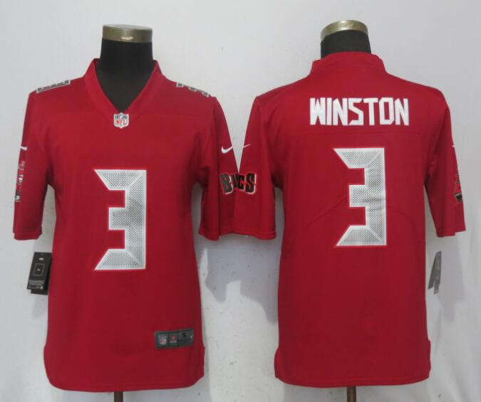 Nike Buccaneers 3 Jameis Winston Red Youth Color Rush Limited Jersey