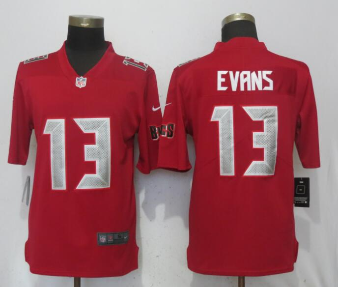 Nike Buccaneers 13 Mike Evans Red Youth Color Rush Limited Jersey