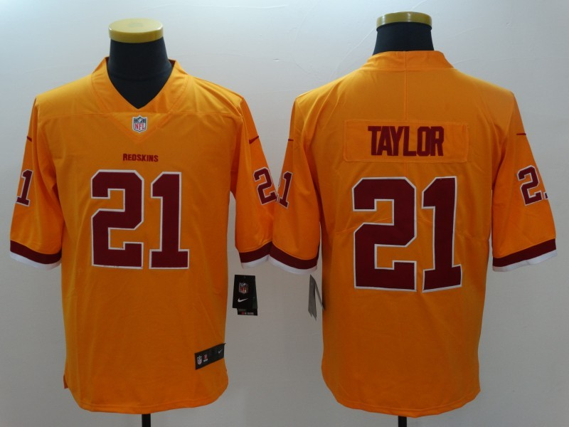 Nike Redskins 21 Sean Taylor Yellow Youth Color Rush Limited Jersey