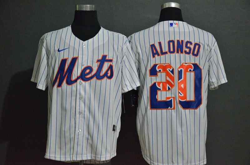 Mets 20 Pete Alonso White 2020 Nike Cool Base Fashion Jersey