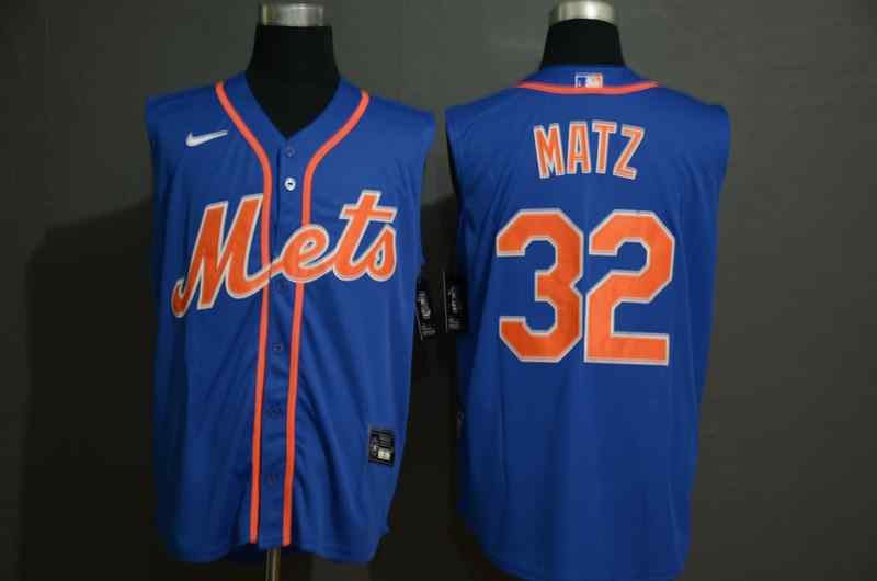 Mets 32 Steven Matz Royal Nike Cool Base Sleeveless Jersey