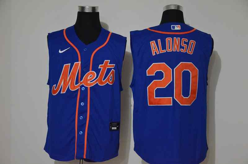 Mets 20 Pete Alonso Royal Nike Cool Base Sleeveless Jersey