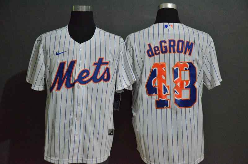 Mets 48 Jacob DeGrom White 2020 Nike Cool Base Fashion Jersey