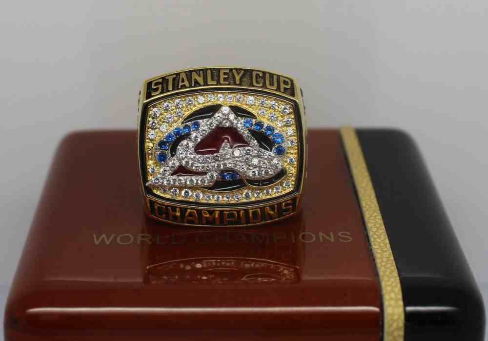 2001 NHL Championship Rings Colorado Avalanche Stanley Cup Ring