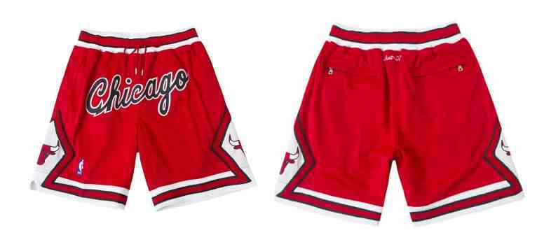Bulls Red Just Don With Pocket Shorts