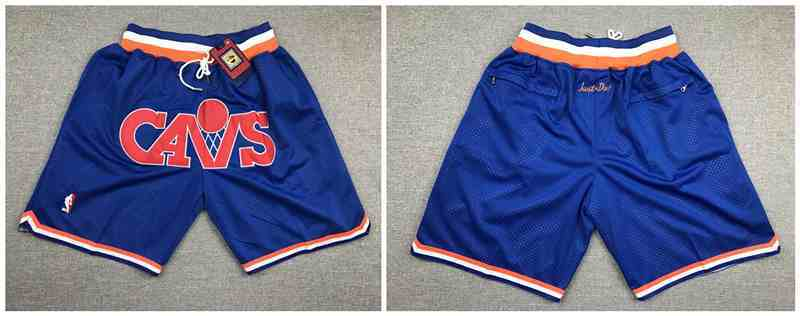 Cavaliers Blue Just Don Mesh Throwback With Pocket Shorts