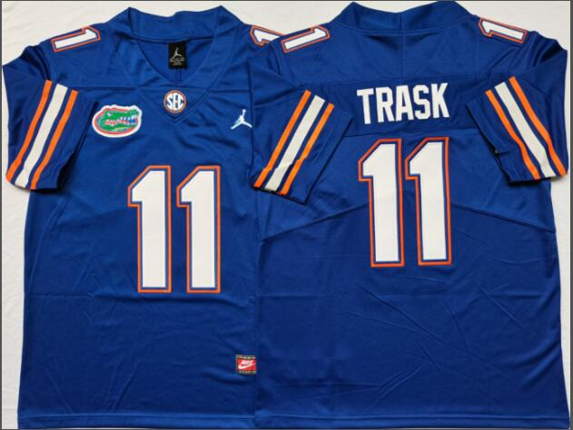 Mens NCAA Florida Gators 11 Trask Blue Limited College Football Jersey