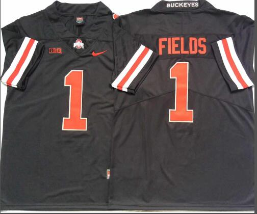 Mens NCAA Ohio State Buckeyes 1 Fields Black Limited College Football Jersey