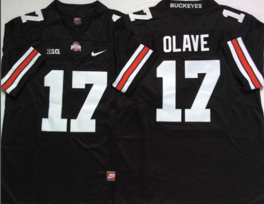 Mens NCAA Ohio State Buckeyes 17 Olave Black Limited College Football Jersey