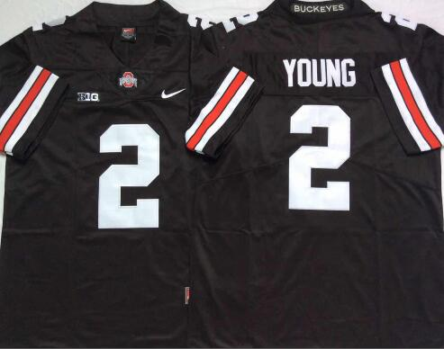 Mens NCAA Ohio State Buckeyes 2 Young Black Limited College Football Jersey