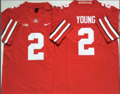 Mens NCAA Ohio State Buckeyes 2 Young Red Limited College Football Jersey