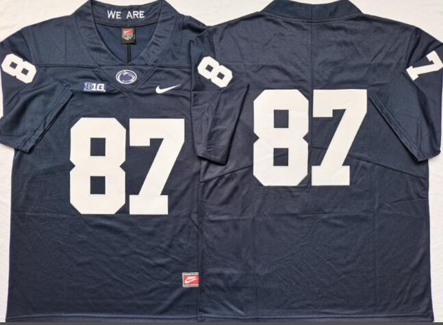 Mens NCAA Penn State Nittany Lions 87 Blue College Football Jersey