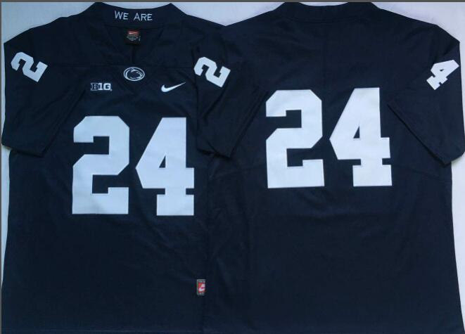 Mens NCAA Penn State Nittany Lions 24 Blue College Football Jersey