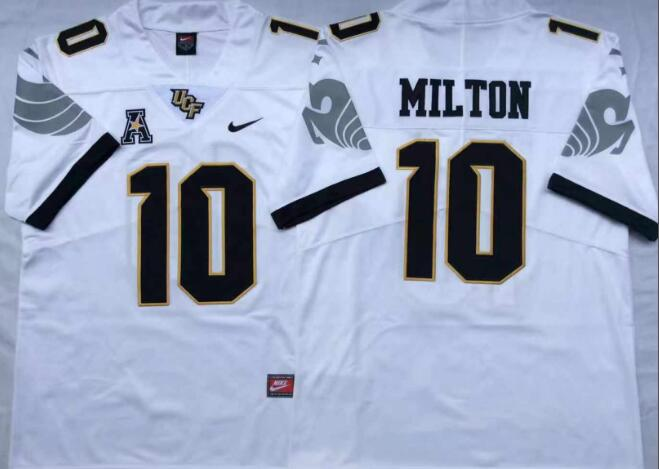 Mens NCAA UCF Knights 10 Milton White College Football Jersey