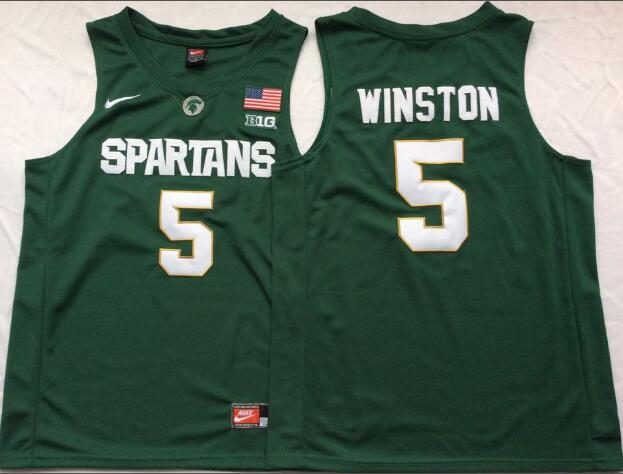 Mens NCAA Michigan State Spartans 5 Winston Green College Football Jersey