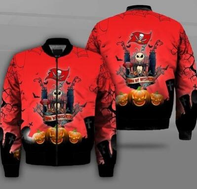 Mens NFL Football Tampa Bay Buccaneers  Flying Stand Neck Coat 3D Digital Printing Customized Jackets 2