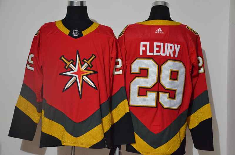 Vegas Golden Knights 29 Marc Andre-Fleury Red 2020-21 Reverse Retro Adidas Jersey