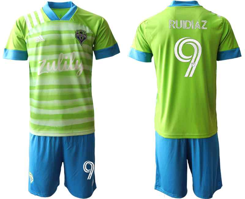 2020-21 Seattle Sounders 9 RUIDIAZ Home Soccer Jersey