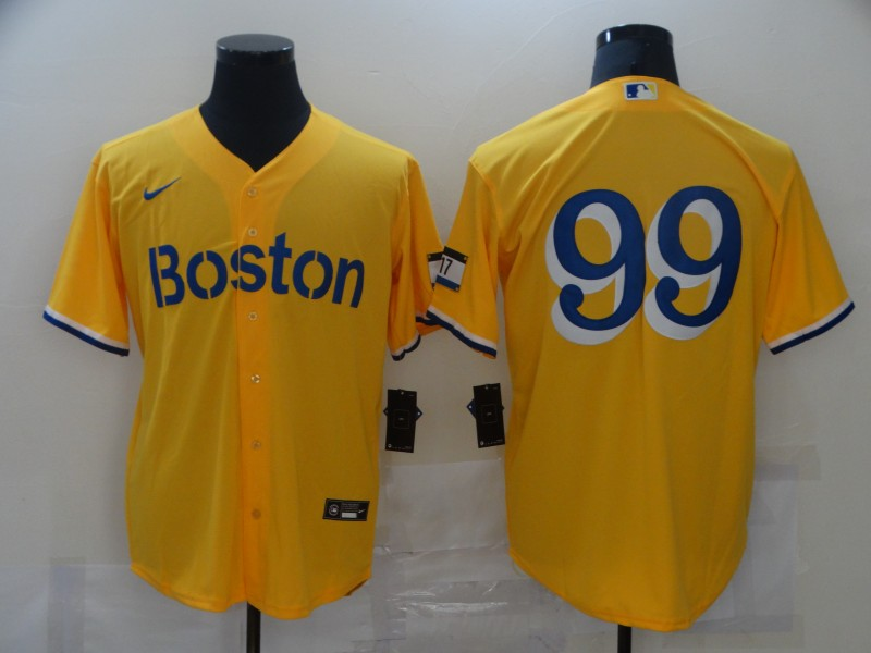 Red Sox 99 Alex Verdugo Gold Nike 2021 City Connect Replica Player Cool Base Jersey