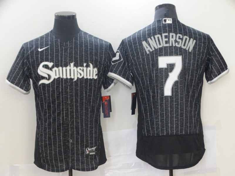 Southside White Sox 7 Tim Anderson Black 2021 City Connect Flexbase Jersey