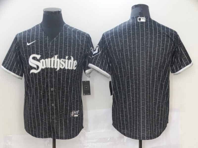 Southside White Sox Blank Black 2021 City Connect Cool Base Jersey
